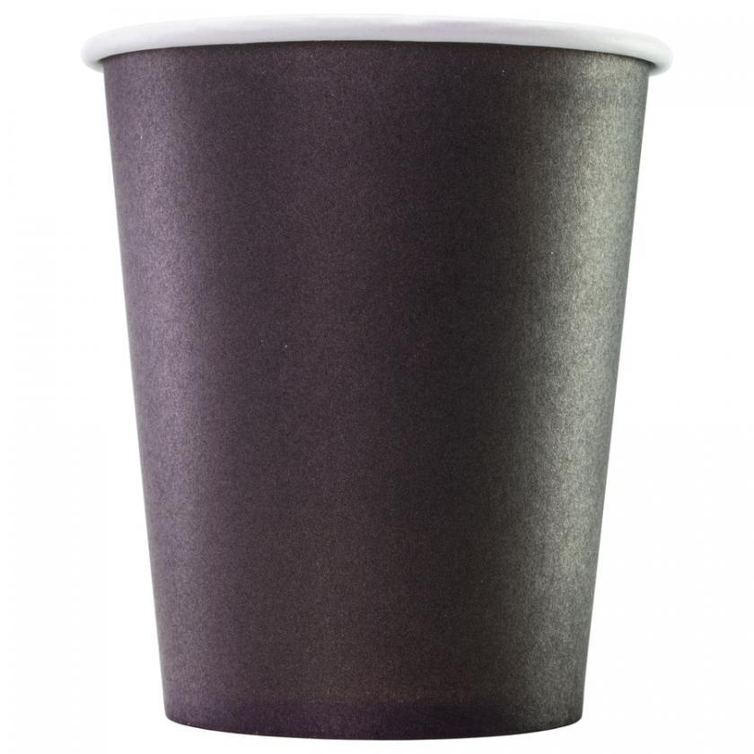Бумажный стакан черный, 400 мл