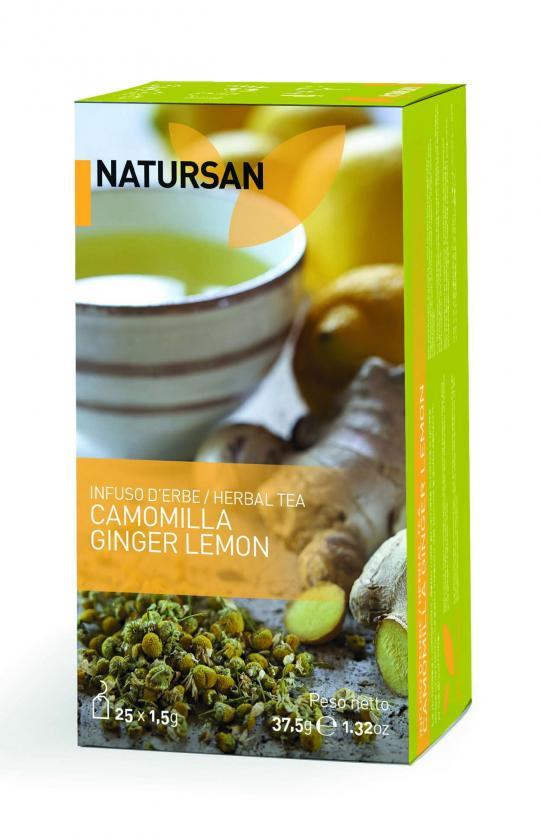 Травяной чай Natursan Ромашка Лимон Имбирь