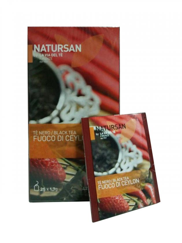 Чай в пакетиках Natursan Fuoco di Ceylon