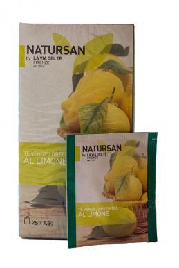 Чай зеленый в пакетиках Natursan Лимон